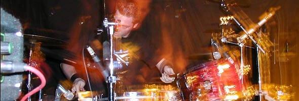 Me playing drums circa 2002