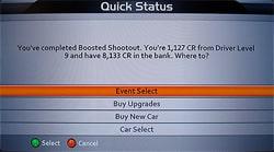 Quick Status Screen