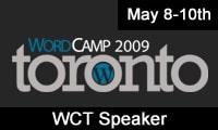 WordCamp Toronto 2009 Speaker
