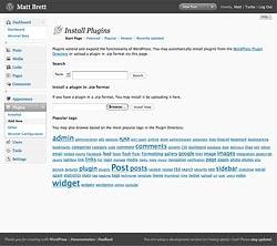 WordPress 2.7 Add New Plugins Screen