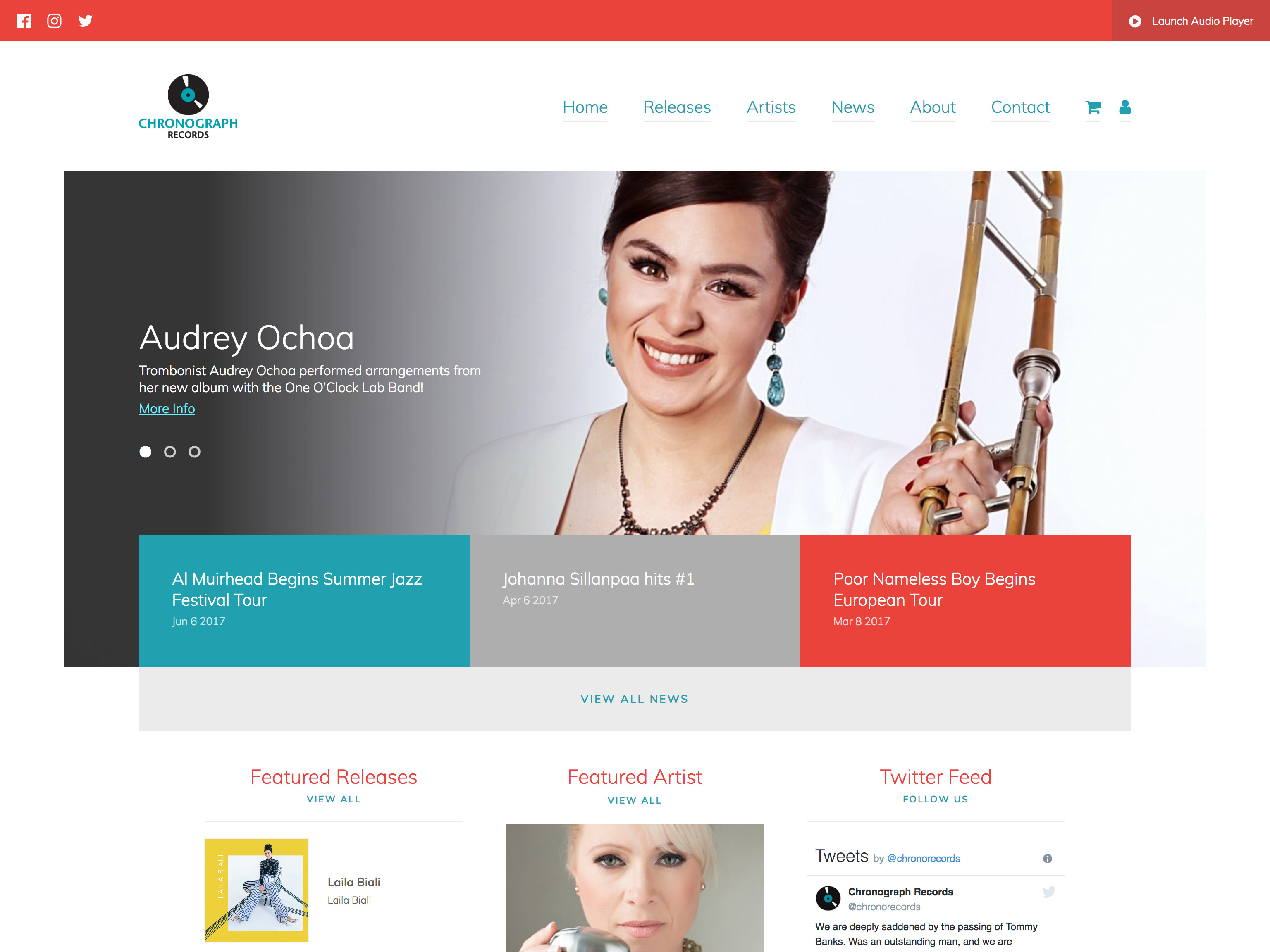 home web design. Chronograph Records Matt Brett  Freelance Web Designer And WordPress Expert