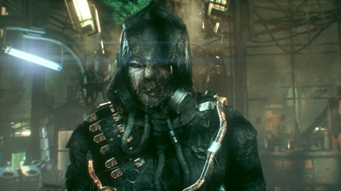 Scarecrow is super creepy, and voiced by John Noble.